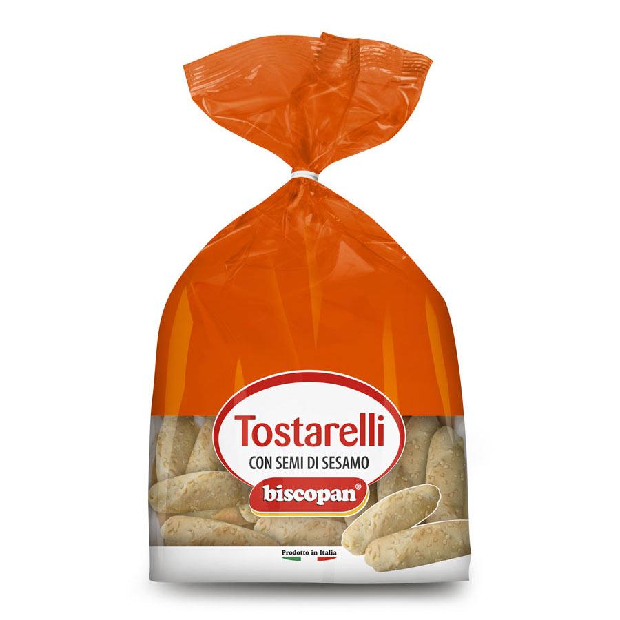 Tostarelli with sesame