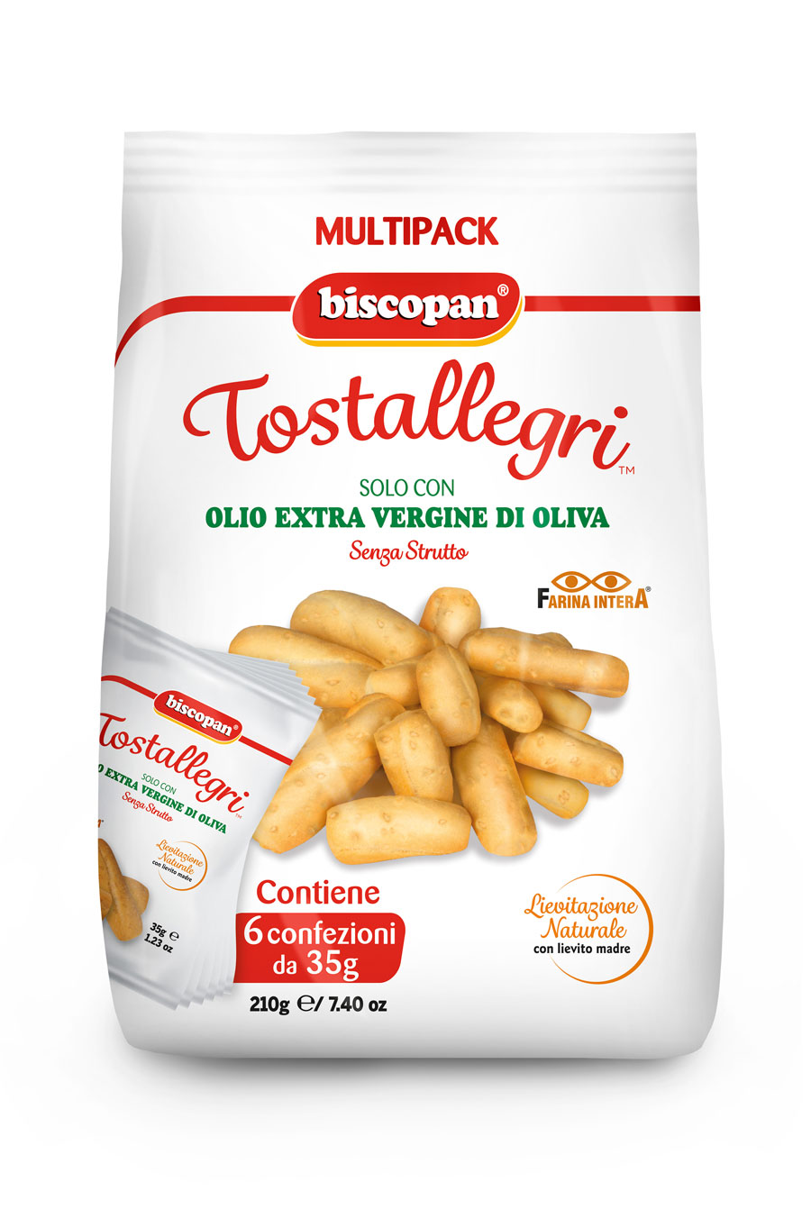 Tostallegri confezione multipack 210 gr Doypack